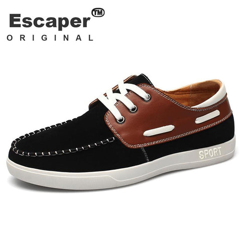 man's casual shoes  lace up british style boat shoe man's vintage canvas shoe