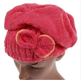 1PCS Home Textile Microfiber Solid Hair Turban Quickly Dry Hair Hat Wrapped