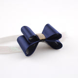 16colors Newborn Luxe Hair Flower Bows Matching Glitter Headband Handmade Hard Bow - Shopy Max