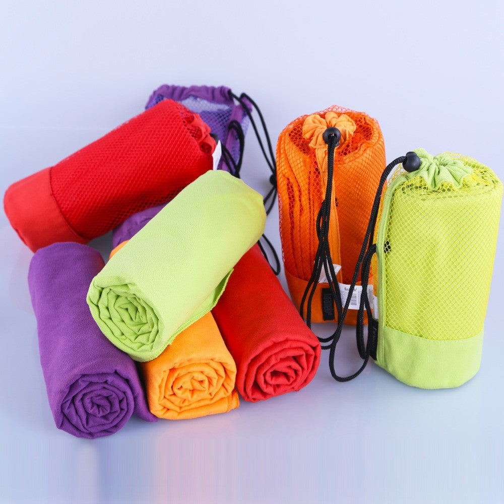 Sports Towel With Bag 70x130cm Larger Size Microfiber toalha de esportes Swimming Travel Gym Towel - Shopy Max