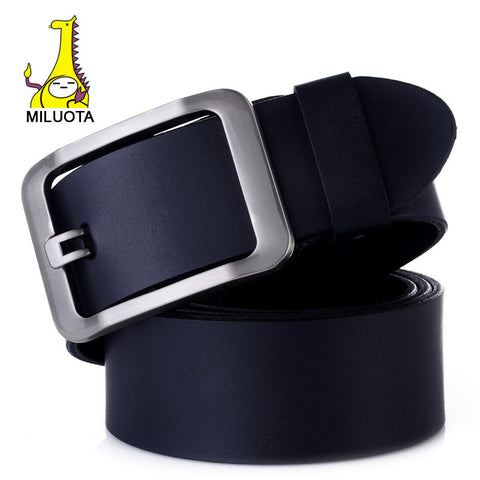 [MILUOTA] 2016 100% Genuine Leather belts for men High quality metal pin