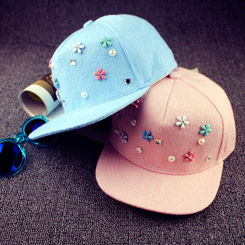 2016 New Fashion Summer Adjustable Women's Lace Floral Baseball Caps for Girls