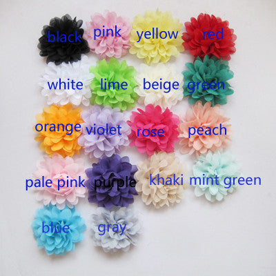 2015 new 18 color alternative big chiffon hair flower 10cm headband diy flowers without
