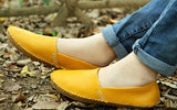 genuine leather shoes casual fashion moccasins female spring and autumn women's  flat single casual flat heel shoes lazy driving - Shopy Max