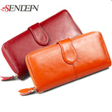 100% Genuine Leather Women Wallet Luxury Brand Designer Wallet Women - Shopy Max
