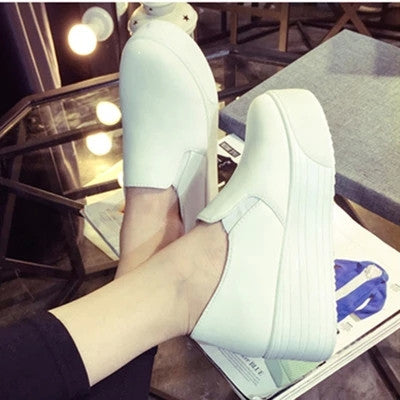 2015 Spring autumn fashion women platform shoes woman flats loafers