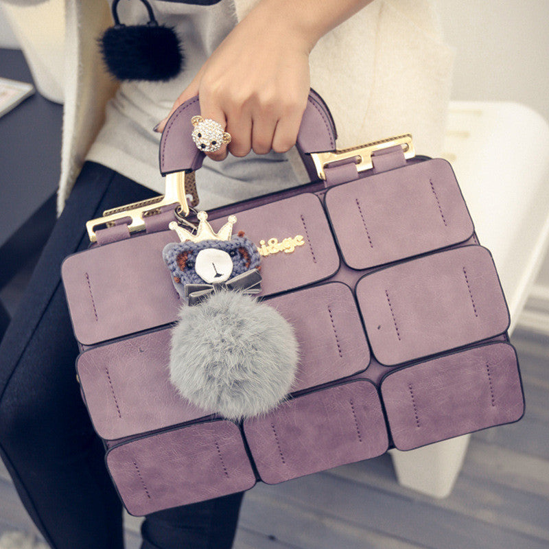 The new spring/summer 2016 women bag suture Boston bag