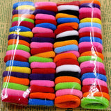 80pcs/bag Quality 30mm Child baby Small Rubber Bands Elastic Ponytail Holders Hair Ring - Shopy Max