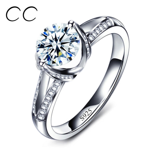 2015 new S925 sterling silver Engagement Rings for women AAA Diamant Bague bijoux argent anillos vintage jewelry MSR098