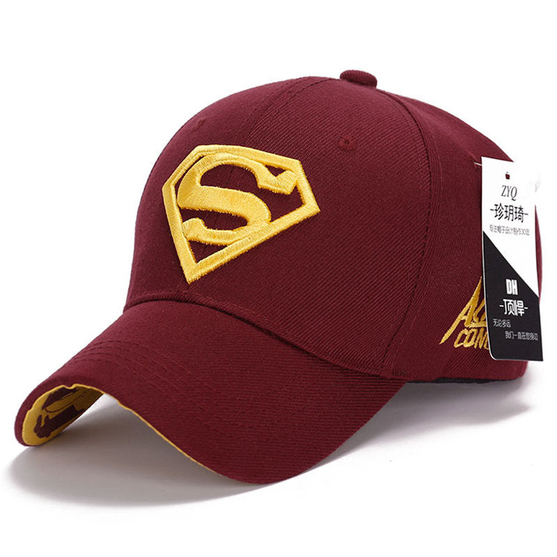 2015 cool amazing color casual gorras super-man superman hero 3D logo baseball sport caps hats for men women unisex adjustable