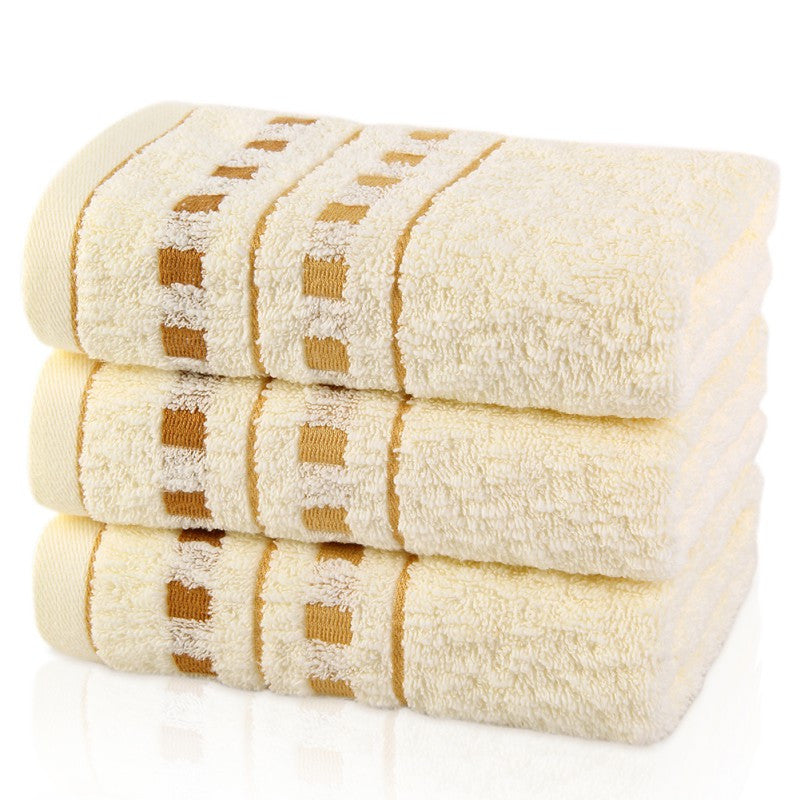 1 Pcs Soft Cotton Bath Large Oversized Towels Absorbent Beach Towels 33x76cm - Shopy Max