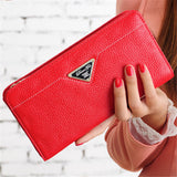 2016 fashion designer brand wallet genuine leather purse long women