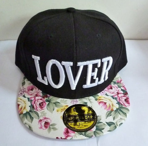 1 Pcs Korean Version New Baseball Cap Flowers LOVER Three-dimensional Embroidery Cloth Hip-hop Dance Women Men Hat 3 Color
