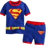 2016 new summer cotton  short sleeve clothes sets kids  pajamas girls pijama boys children's - Shopy Max