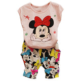NEW  Fashion Cartoon Girls Summer Clothes Baby Suits Kids Children Clothing Set