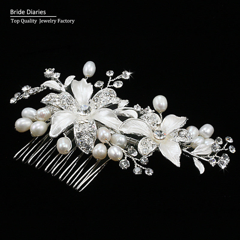 bridal hair comb wedding hair comb Flower Hair Jewelry Beautiful Bridal Accessories