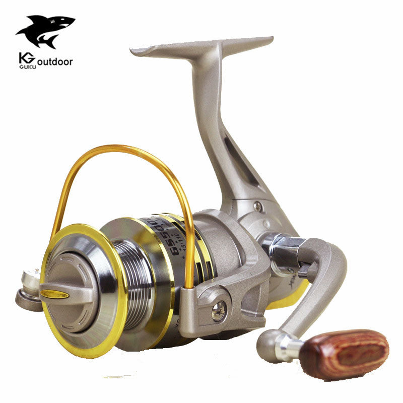 Hot sale GS1000-7000 Fly Fishing Reels 8BB wood hand via fly fishing for shimano feeder Fishing Reels