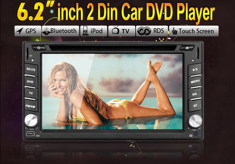 Car Radio Bluetooth 2DIN In Dash Car FM Stereo DVD Player GPS Navigation USB SD MP3 Universal Interchangeable Player