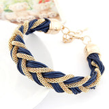 3 kinds of color 2014 new metal winding bracelet with a rope #1806 - Shopy Max
