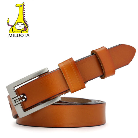 [MILUOTA] 2016 Designer Belts for Women Genuine Leather Fashion Dress belt