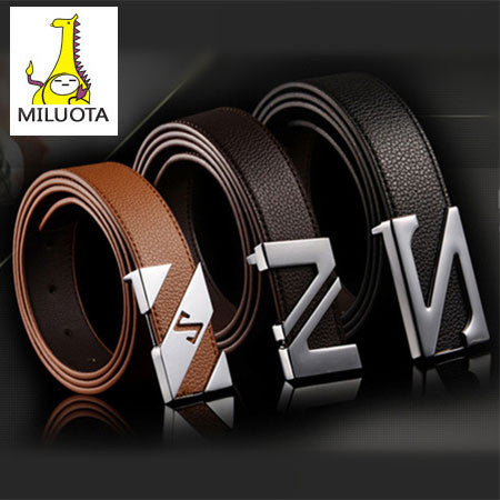 [MILUOTA] 2015 cinturones hombre brand belts for men ceinture high quality