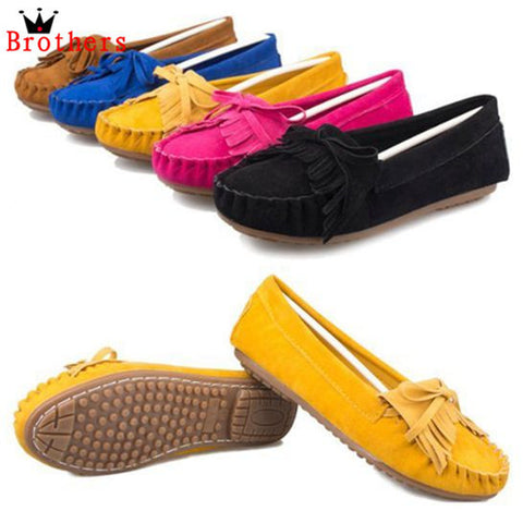 2014 Flat Heel Fashion Candy Color Bow Knot Round Toe Slip On Loafer Shoes Casual Comfortable Free Shipping # L035621