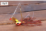1pcs Trulinoya brand 12g/18g Spinner Bait with Brass Fishing Spoon Lure Metal Jig Jigging lure Swimbait Spinnerbait