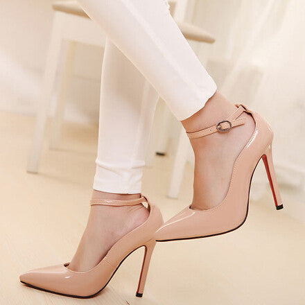 size 40 65d9c 2c58d Red bottom sole high heels pumps for women elegant nude pumps thin heels  pumps pointed toe women shoes high heels wedding shoes