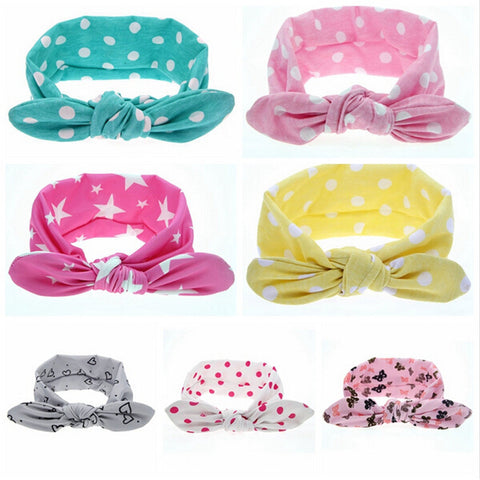 1 PCS Fashion Baby Girl Dot Knot Headband Newborn Infant Hair Accessories Children Elastic Hair Bands   172