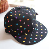 2015 Hot Sale Spirng Women Baseball Caps Cute Colorful Dot Embroidery Hip Hop Snapback - Shopy Max