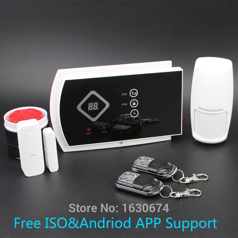 99 wireless & 2 wired zone home security alarm system ISO & android APP support free shipping