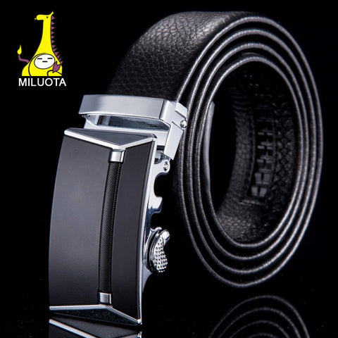 [MILUOTA] 2015 Fashion designer belts for men cinto masculino genuine leather automatic buckle belt brand for business WN002