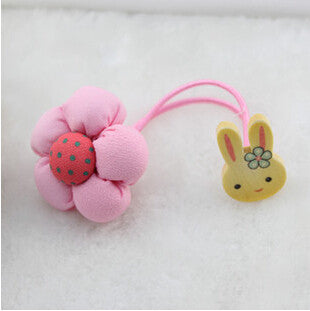 2015 New Arrival styling tools Rabbit pumpkin flower headwear Hair ring accessories used