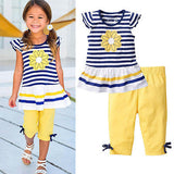 2016 New Girls Clothing Sets Baby Kids Clothes Children Clothing 2 PCS - Shopy Max