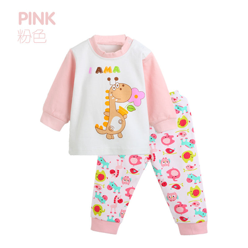 2016 Character Children's Clothing Sets Kids Girls Tshirt Pants Newborn Baby Boys Clothes