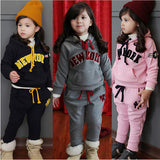 Girl Clothing Set,3-8 Age Girls Sport Clothes Suits Sets Children Hoodie - Shopy Max