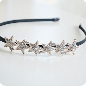 Shine Stars Flower Hearth Girls Hairband kids children hair accessories band gum kk3131 - Shopy Max