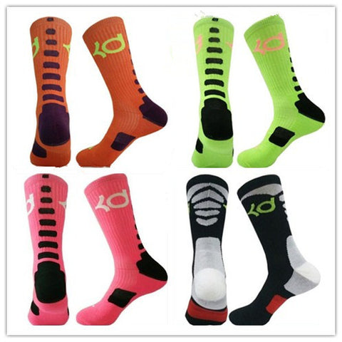2016 candly color solid Elastic high quality cotton basketball big size sox Professional