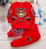 hot sale 2016 spring tiger baby boys kids clothes set fashion cotton sweatshirt + pants children