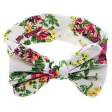 1 PCS Baby Kids Girl Children Toddler Infant Print Flower Floral Bow Hairband Turban - Shopy Max
