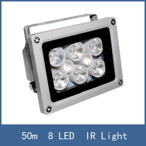 High Lighting Waterproof 50m DC 12V 2A illuminator Fill Assist Night Vision infrared 8 LED IR Lights for CCTV Security Camera