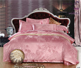 Home textile Stain Jacquard bedding set duvet cover set bed sheet bed linen bedclothes bed cover set roupa de cama bedspread