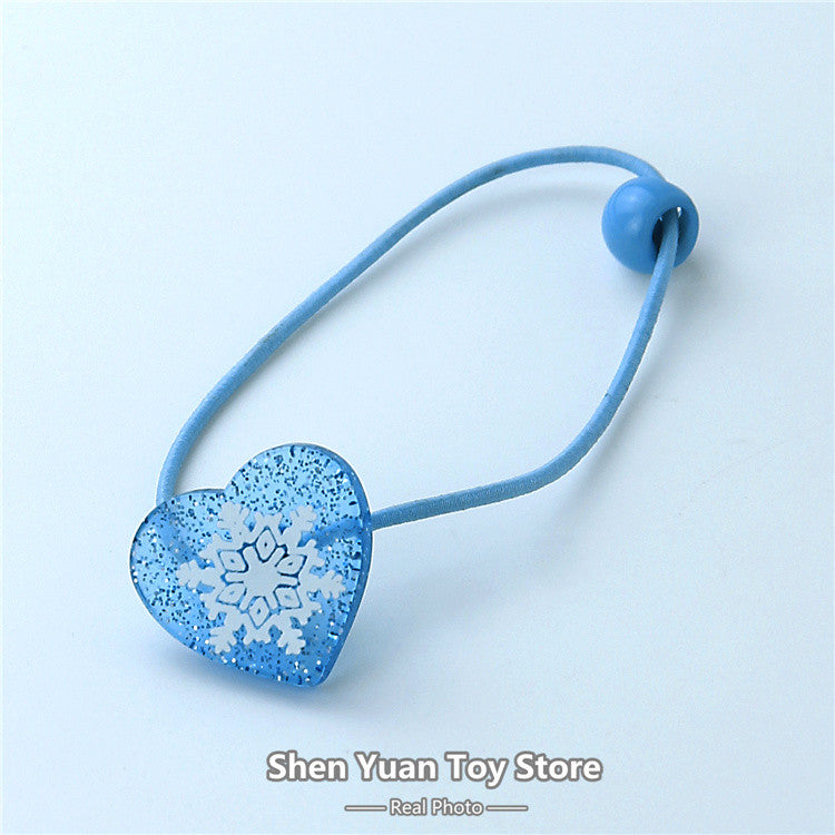 1 pair Elsa Anna Head Rope Hair Band Headwear Heart-shaped Female Girls Babys - Shopy Max