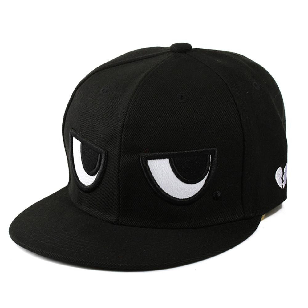 2016 Fashion Brand Snapback Caps New Men's Women's Adjustable Baseball Cap Black White Eyes