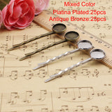 12mm Inner Size Metal Hairpins Blank Cabochon Hairpins Hair Snap - Shopy Max