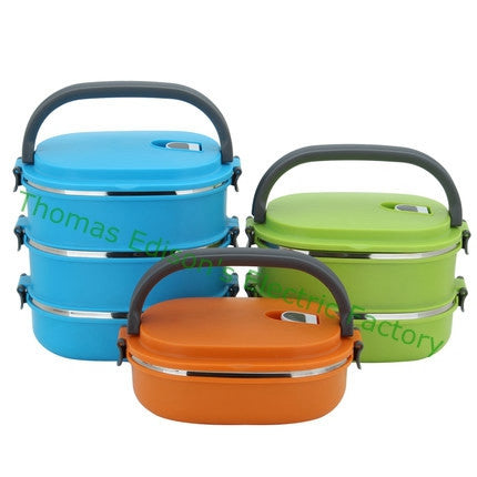 Double layer 2 layer 3 layer Stainless Steel Bento Lunch Box for Kids Thermal Food Container