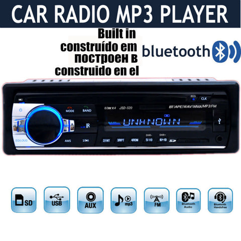 2015 New 1 DIN 12V Car Stereo FM Radio MP3 Audio Player Built in Bluetooth Phone with USB/SD MMC Port Car Electronics In-Dash