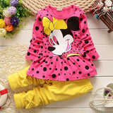 Summer Girls Clothes Kids Tshirt Legging Pants Sport Suit Baby Boy Girls Set Toddler Girl Clothing Suit Minnie Children Clothing