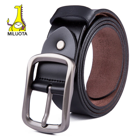 [MILUOTA] 2015 High quality genuine leather men belt brand strap male metal
