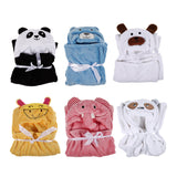 New Towels Baby Kid's Hooded Bath Towel Toddler Blankets Cute Animal Flannel